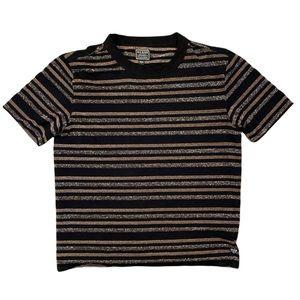 Guess Striped Shiny Rainbow Black T-Shirt